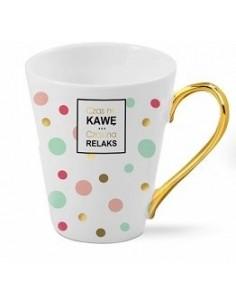 Kubek ceramiczny Czas na kawę..Czas na Relaks..