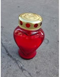 Znicz Szklany serce 00070