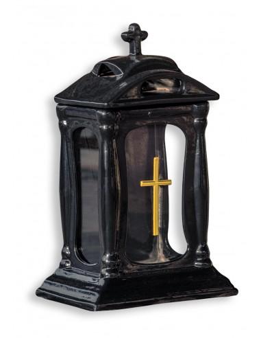 Znicz kapliczka ceramiczna czarna